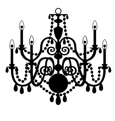 Chanel clipart chandelier Art Clip Silhouettes black&white Pinterest