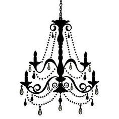 Chanel clipart chandelier Silhouettes Chandelier black&white store Clip