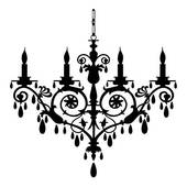 Chanel clipart chandelier Of chandelier Clip Baroque Illustration