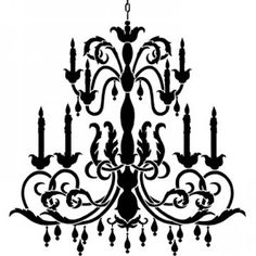 Chanel clipart chandelier Search stencil LUSTRES papelao de