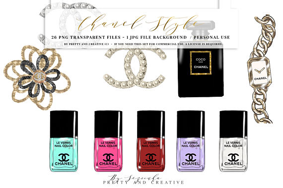 Chanel clipart chane Style digital file  Street