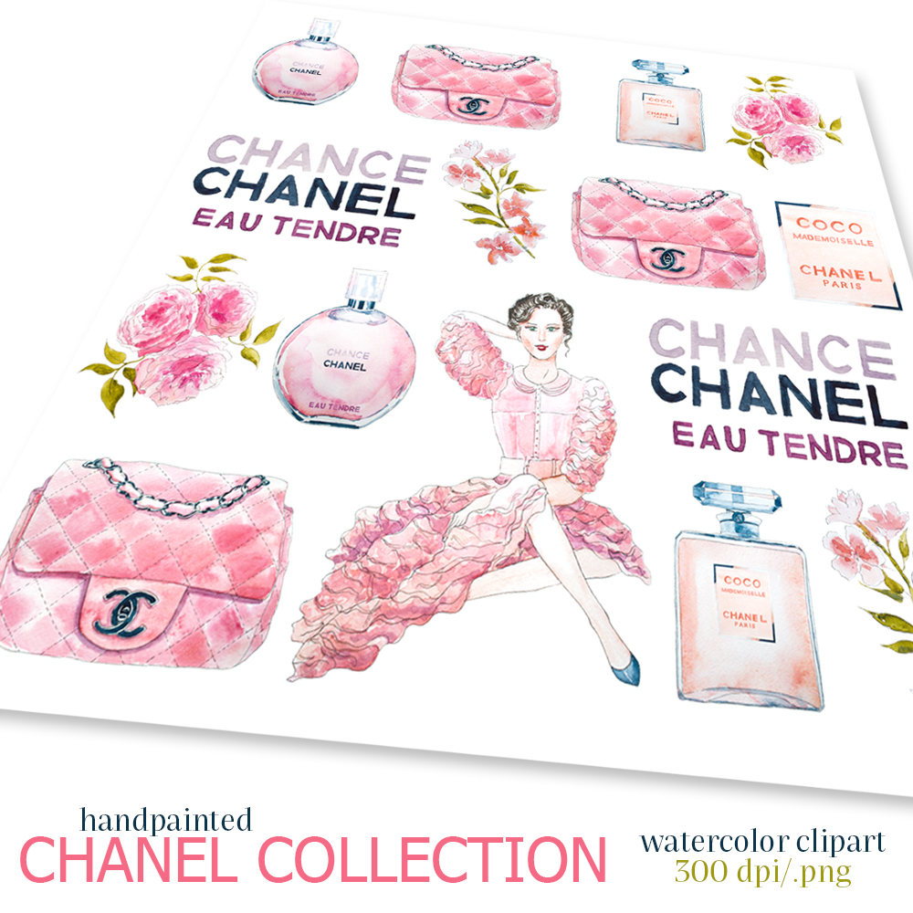 Chanel clipart chane Clipart digital file Illustration Chanel