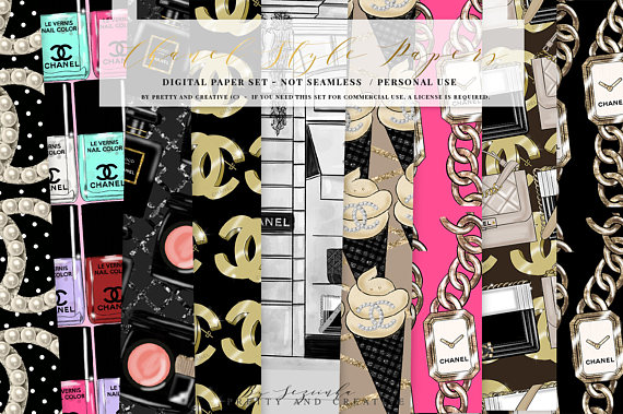 Chanel clipart chane Girl Chanel Style Digital Chanel