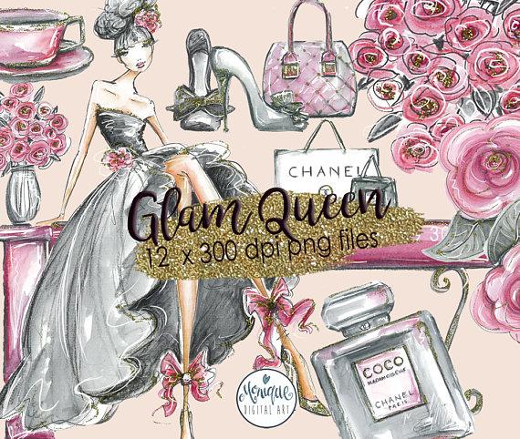 Chanel clipart chane Art Bouquet Clip Fashion Fashion