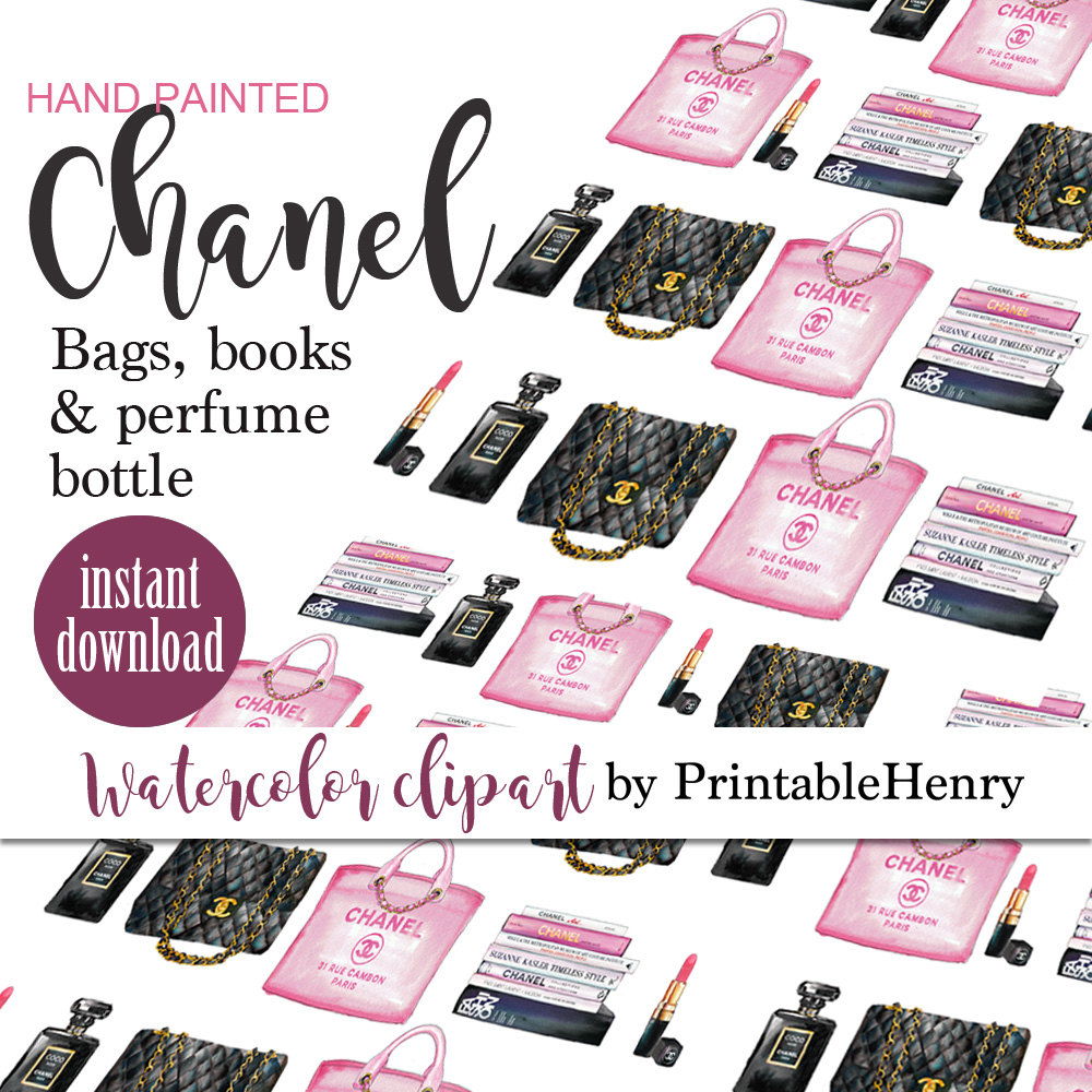 Chanel clipart chane Art clipart Chanel pink clip