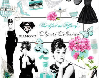 Chanel clipart fashion design Hepburn Audrey Tiffany's clipart Tiffany