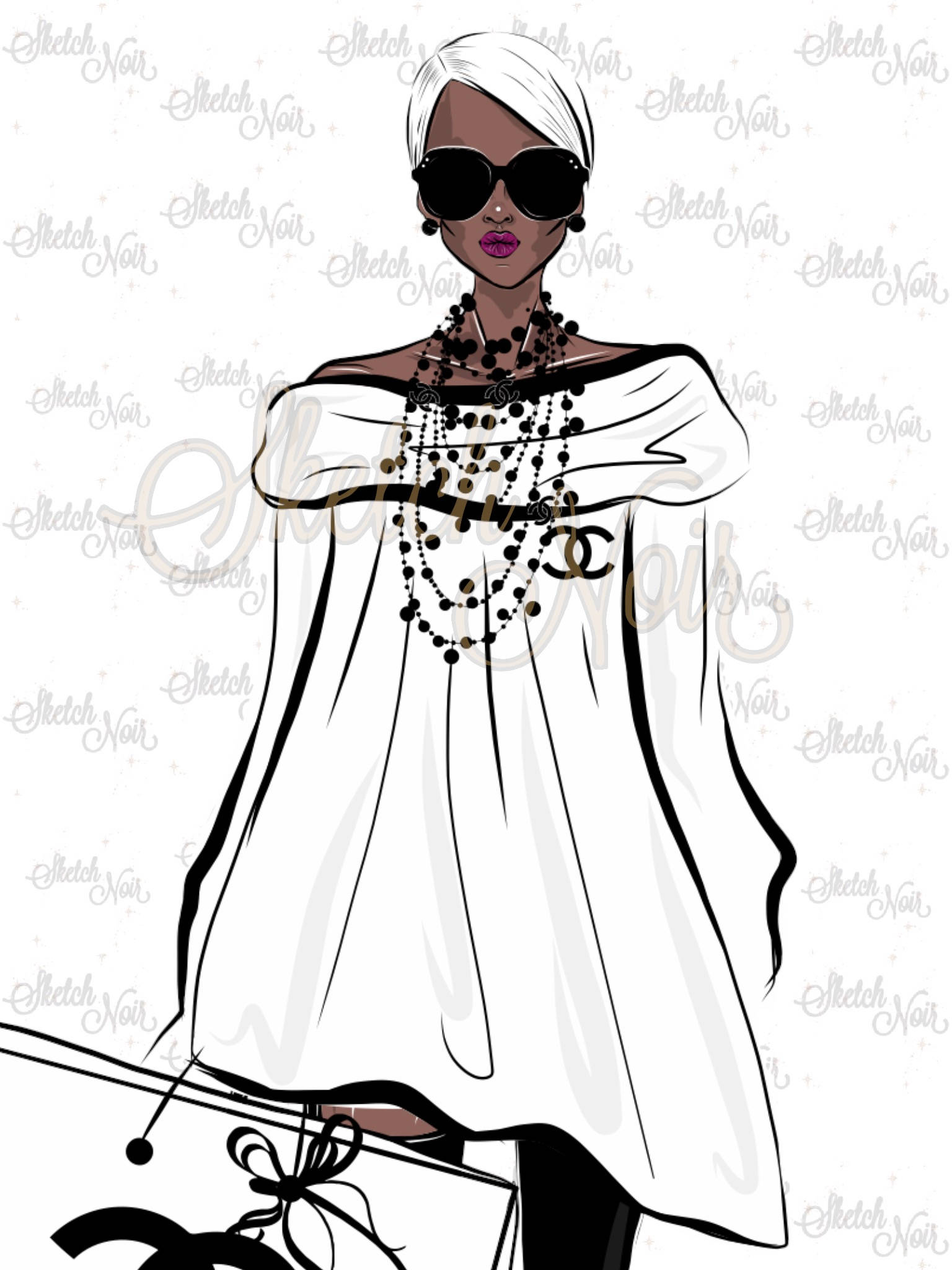 Chanel clipart fashion design Digital a IN american This