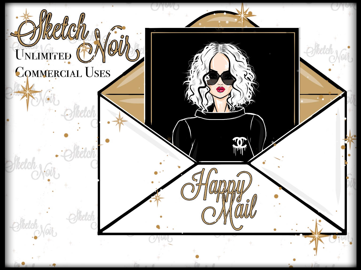 Chanel clipart fashion design Digital a HAPPY happy This