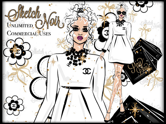 Chanel clipart fashion design Chanel CHANEL chanel chanel girl