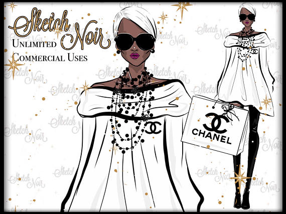 Chanel clipart fashion design Chanel CHANEL american clipart summer