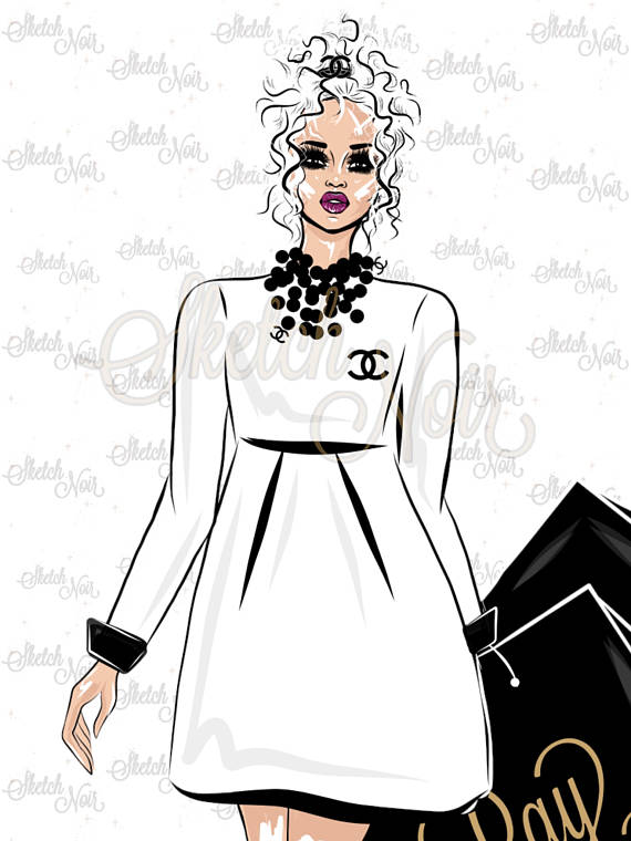 Chanel clipart fashion design Digital a DAY chanel This
