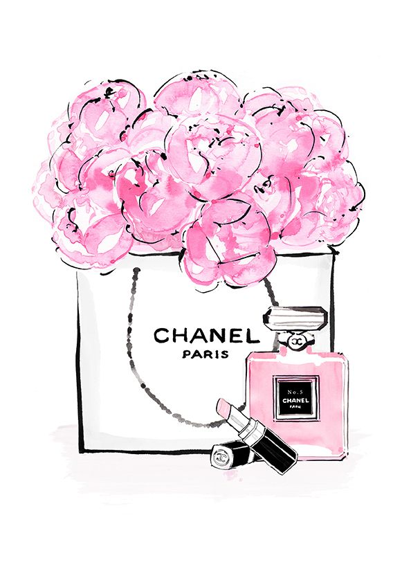 Chanel clipart flower Y Peonias 185 on Art