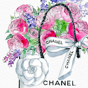 Chanel clipart flower 1 PRINT Print ART Fashion