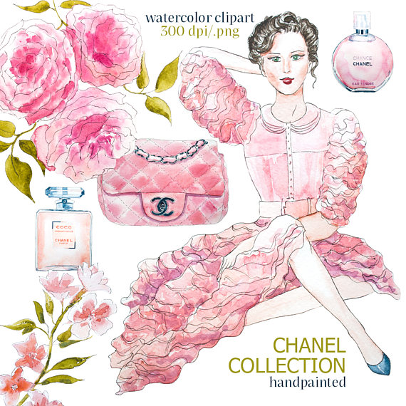 Chanel clipart flower Chanel printable clipart clipart Chanel