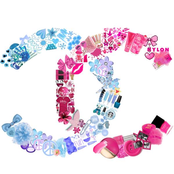 Chanel clipart glitter Polyvore CHANEL CHANEL logo logo