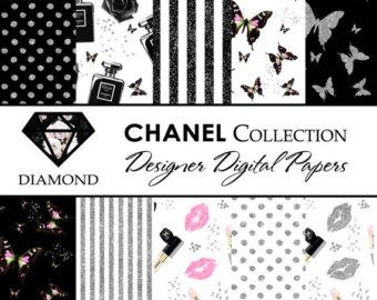 Chanel clipart glitter At Butterflies Glitter digital Breakfast