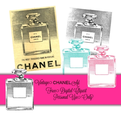 Chanel clipart glitter Perfume CHANEL  Scrapped: And