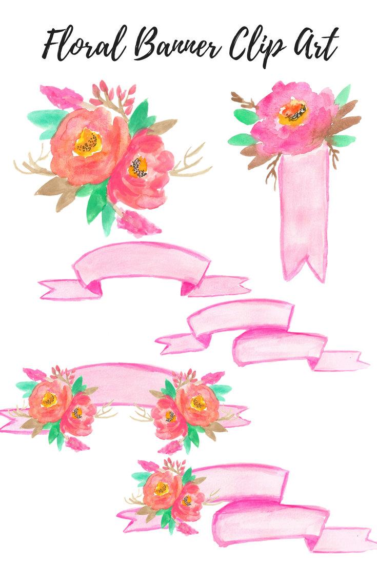 Chanel clipart june flower Banner is Art  watercolor