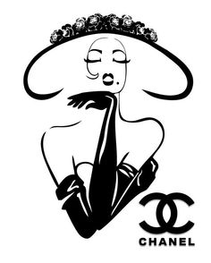 Chanel clipart large Couture Poster poster by Classy
