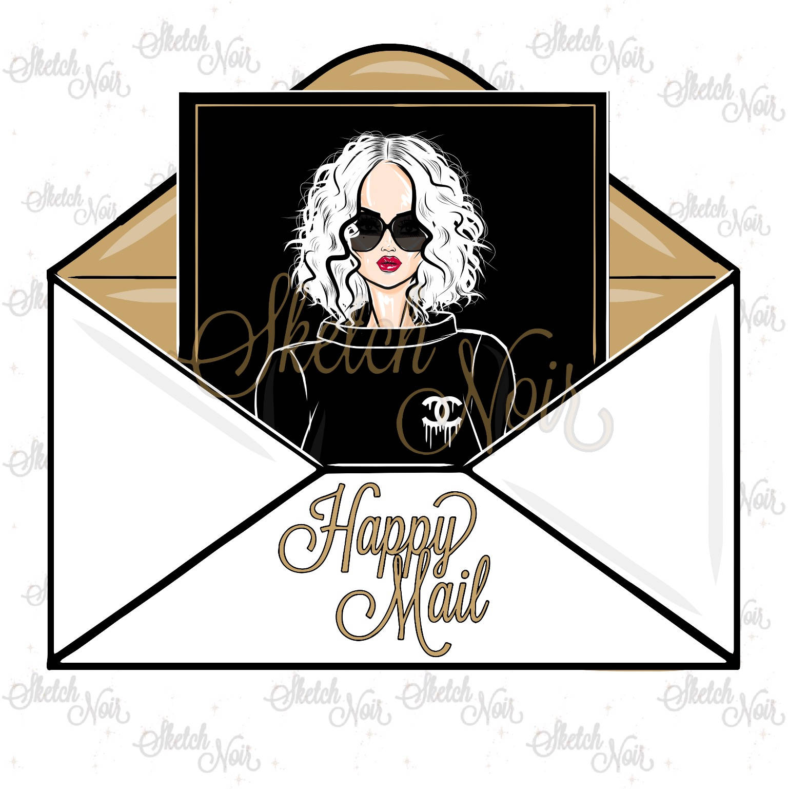 Chanel clipart logo art This digital file happy HAPPY