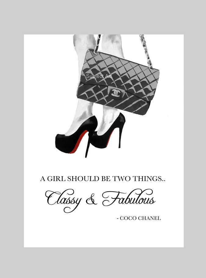 Chanel clipart louboutin Chanel Chanel Etsy Christian Quote