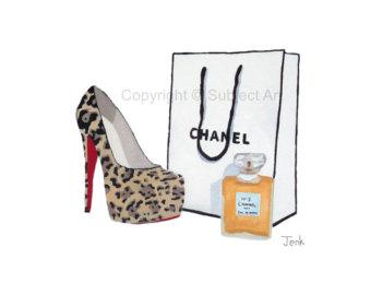 Chanel clipart louboutin Chanel Art art of 5