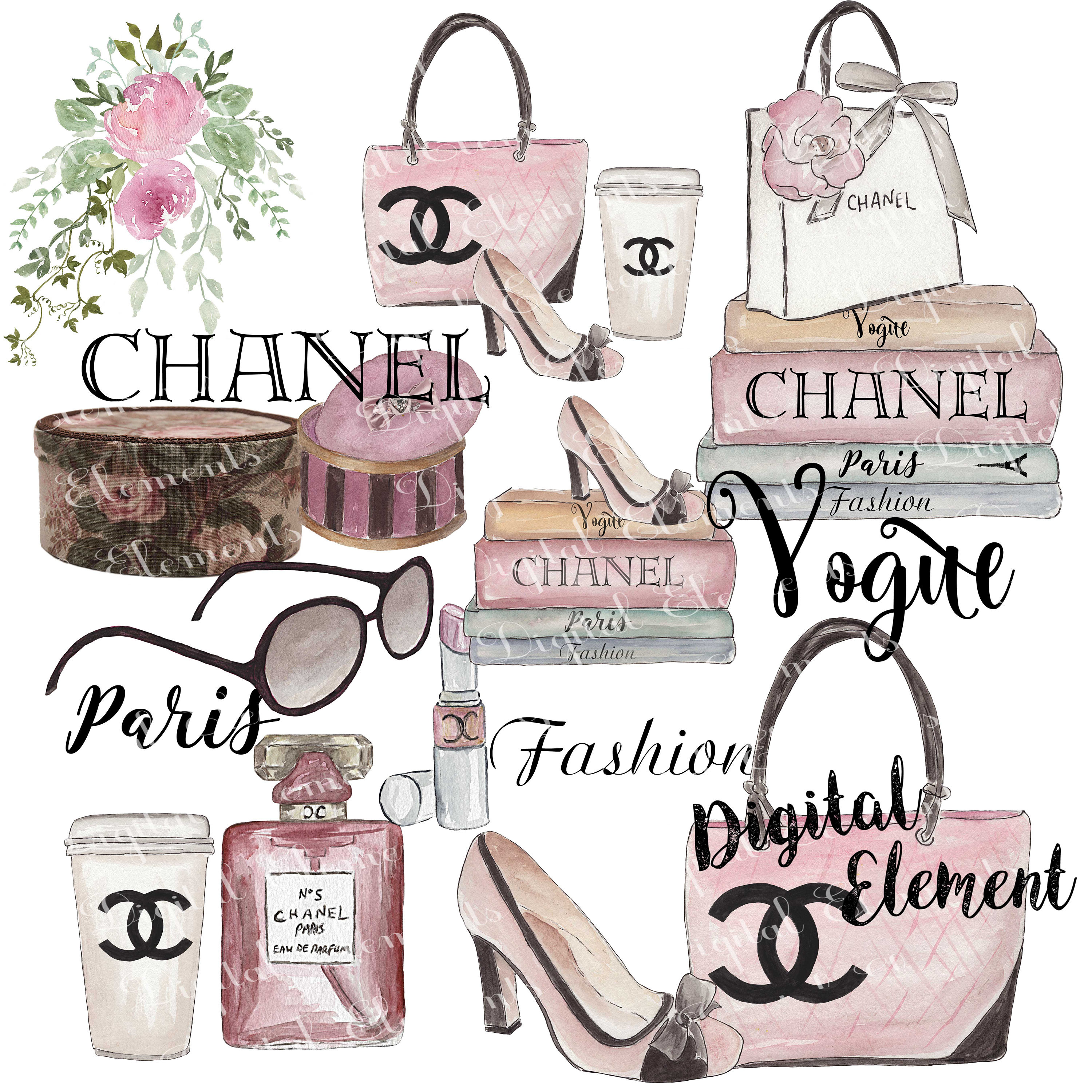 Chanel clipart name This Art Chanel item? Watercolor