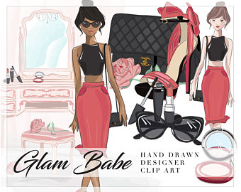 Chanel clipart name Babe Makeup Heels Clip Fashionista