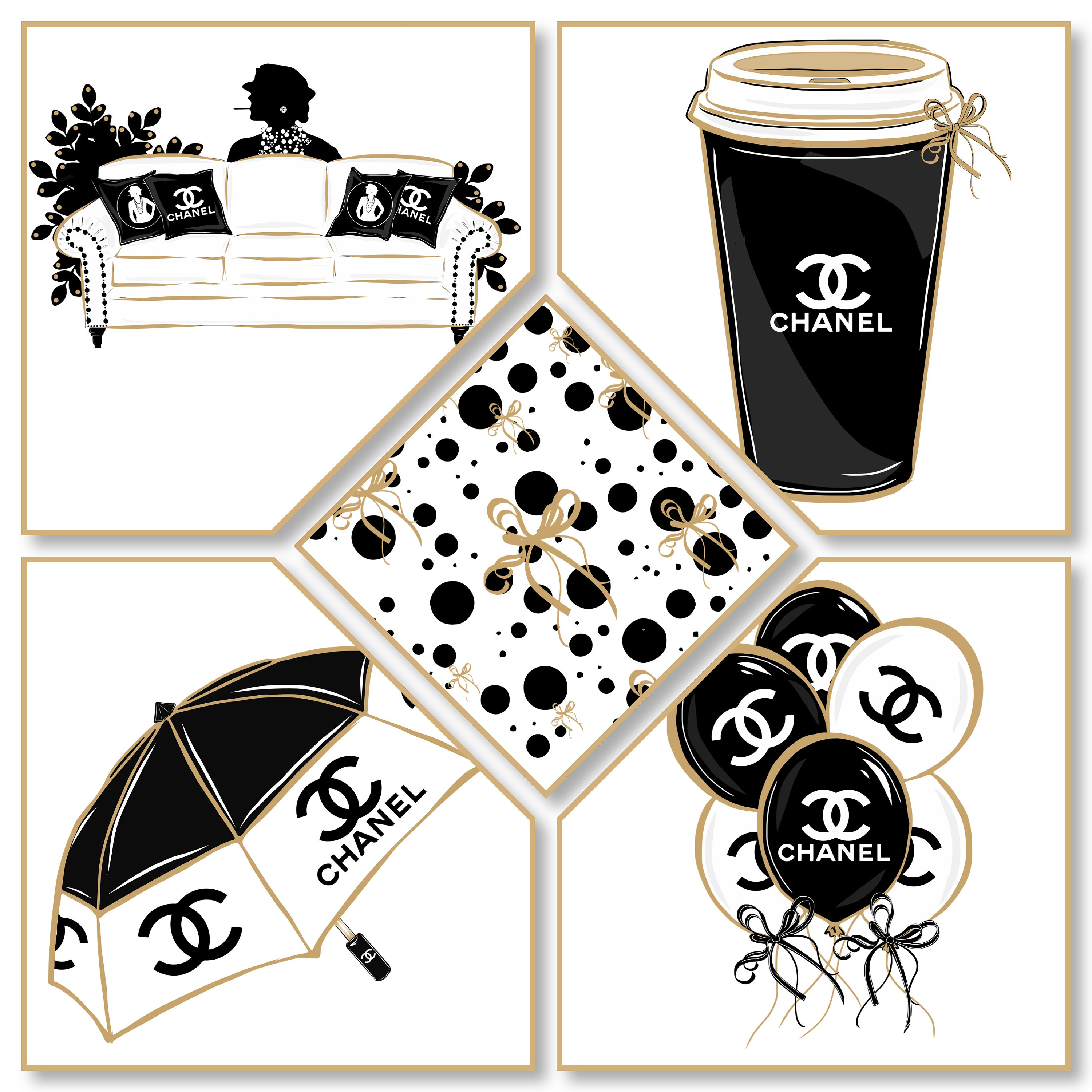 Chanel clipart name Download JUST clipartgirl Instant chanel