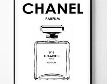 Chanel clipart perfume bottle Chanel print Perfume Perfume 5