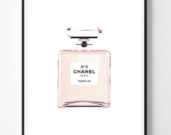 Chanel clipart perfume bottle Chanel print Pink chanel Chanel