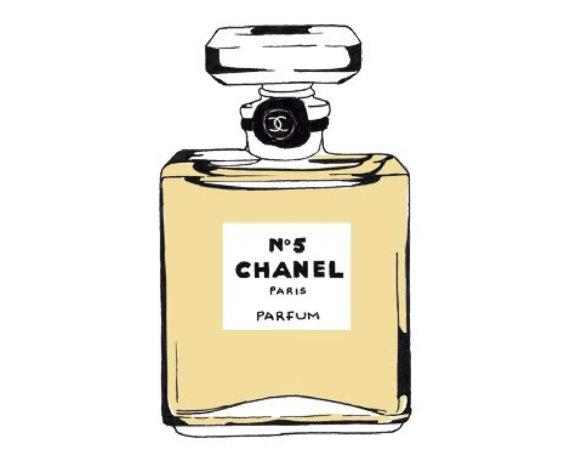 Chanel clipart perfume bottle By No5 view Roses Print