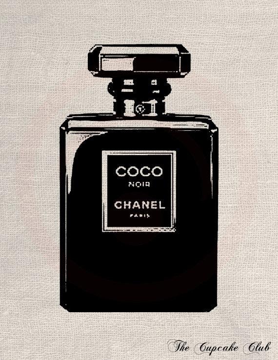 Chanel clipart perfume bottle Vintage Art thecupcakeclub thecupcakeclub Art