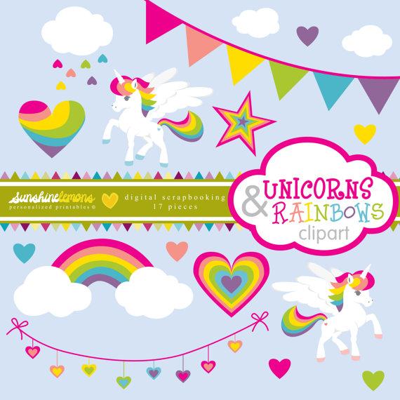 Birthday clipart unicorn Unicorn SunshineLemons von Clipart Unicorn