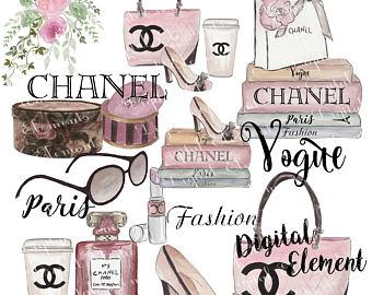 Chanel clipart top model Art Art Clip Ladies Fashion