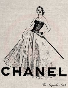 Chanel clipart vintage Download Clip Chic Chic Art