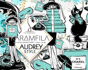 Chanel clipart vintage Fashion Vintage Audrey Clipart Breakfast