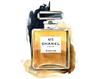 Perufme clipart chanel no 5 Art print Chanel 11x14 perfume