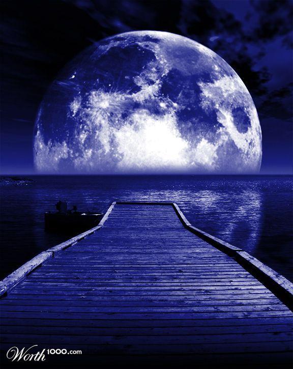 Moonlight clipart blue moon #2