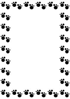 Paw clipart border Clip art Dog Art And