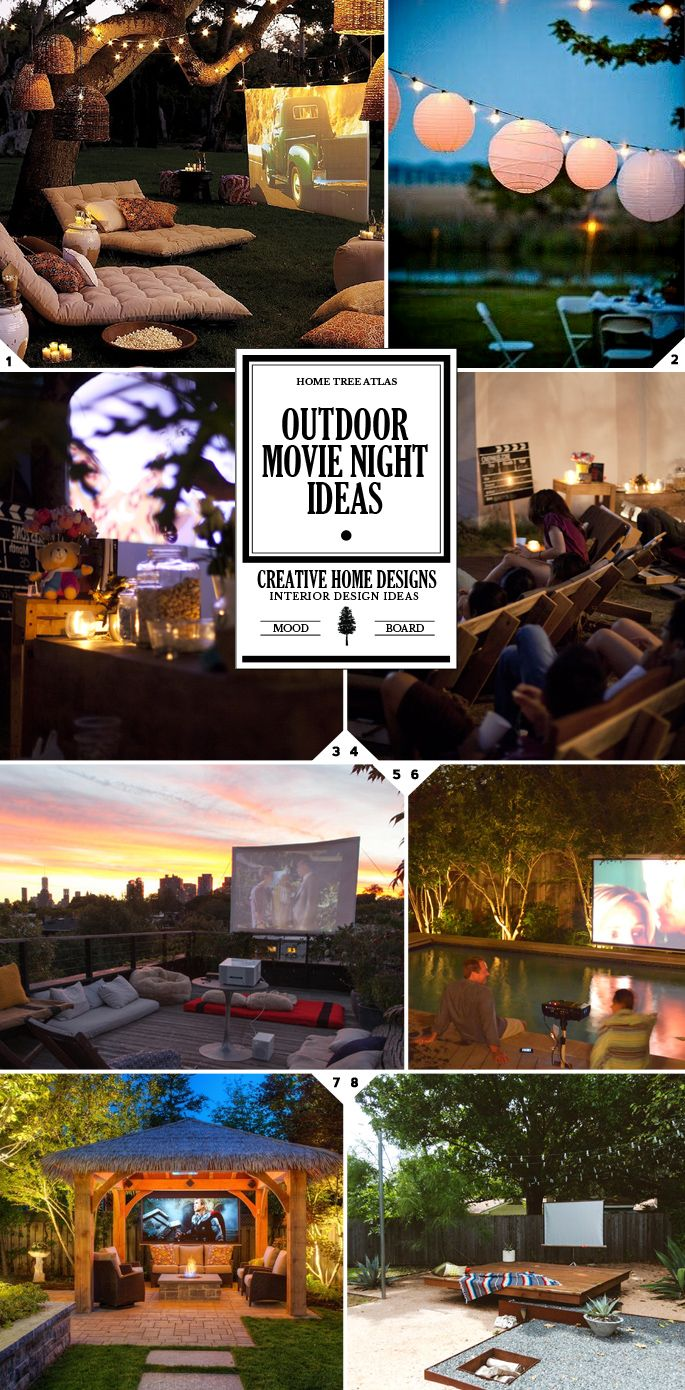 Changing To Night  clipart outdoor movie screen How Evening: Pinterest party Magical