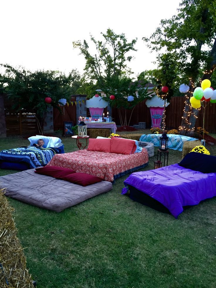 Changing To Night  clipart outdoor movie screen Air outside night on mattresses