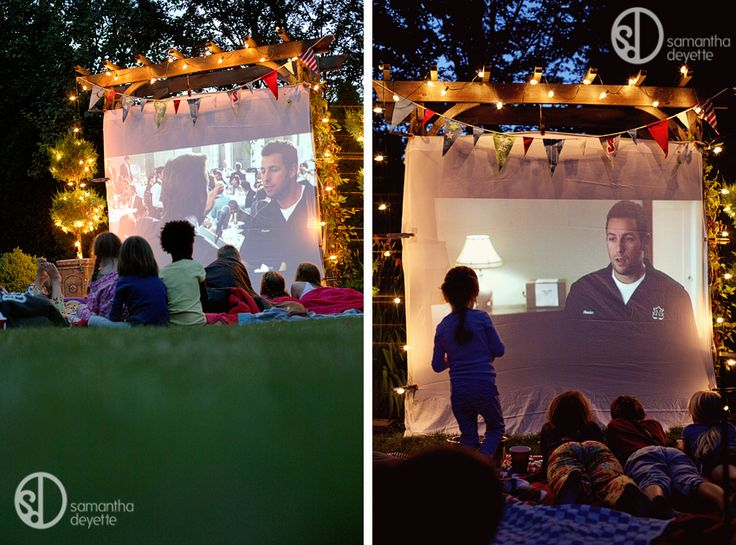 Changing To Night  clipart outdoor movie screen Find on 288 images more