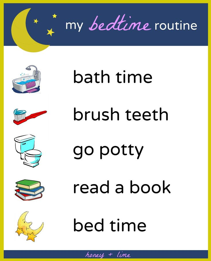 Changing To Night  clipart sleepy child Chart Bedtime on Printable Routine
