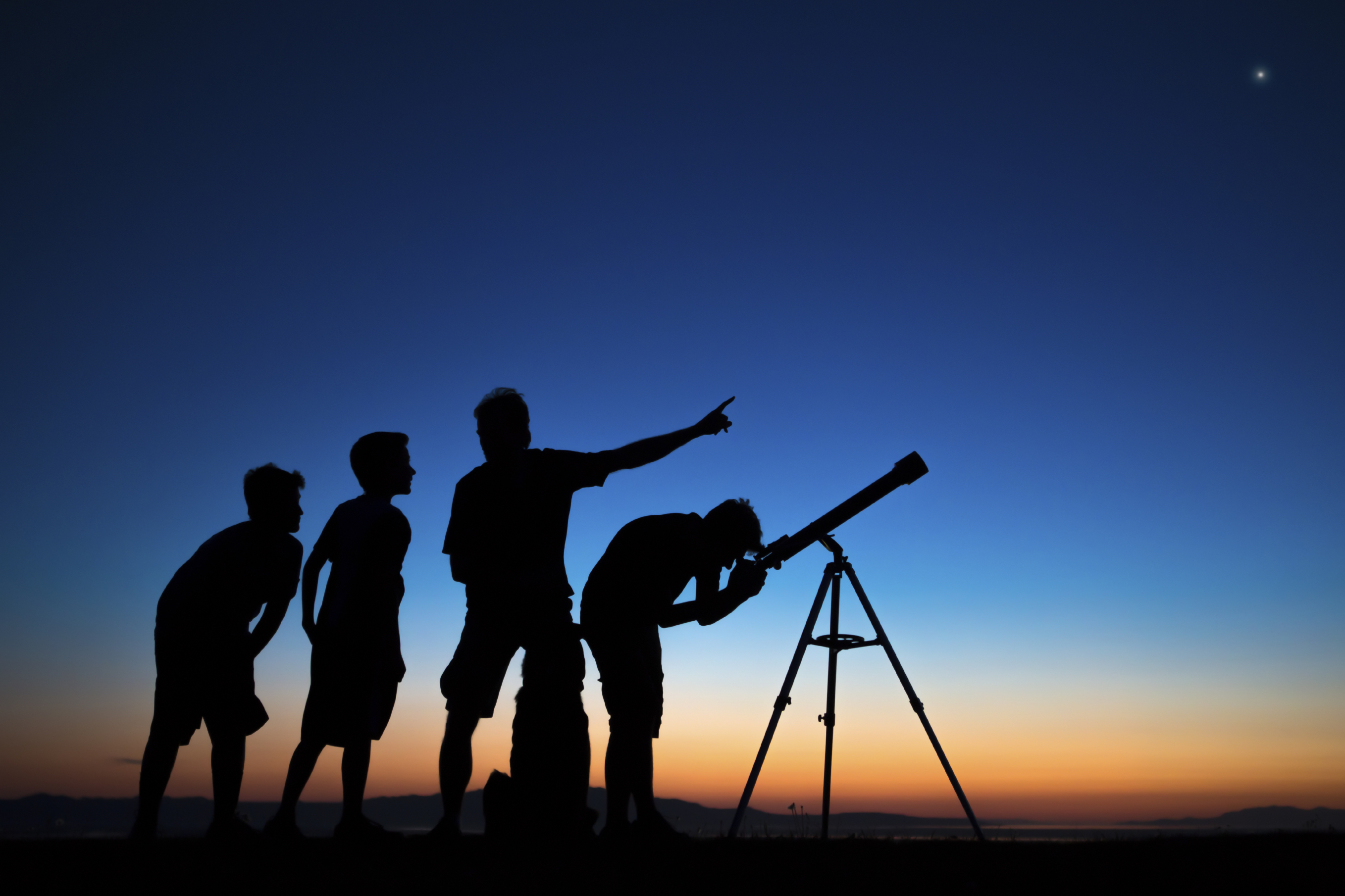 Changing To Night  clipart telescope star Clipart telescope  the of