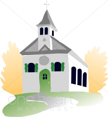 Chapel clipart Wedding Church Chapel  White
