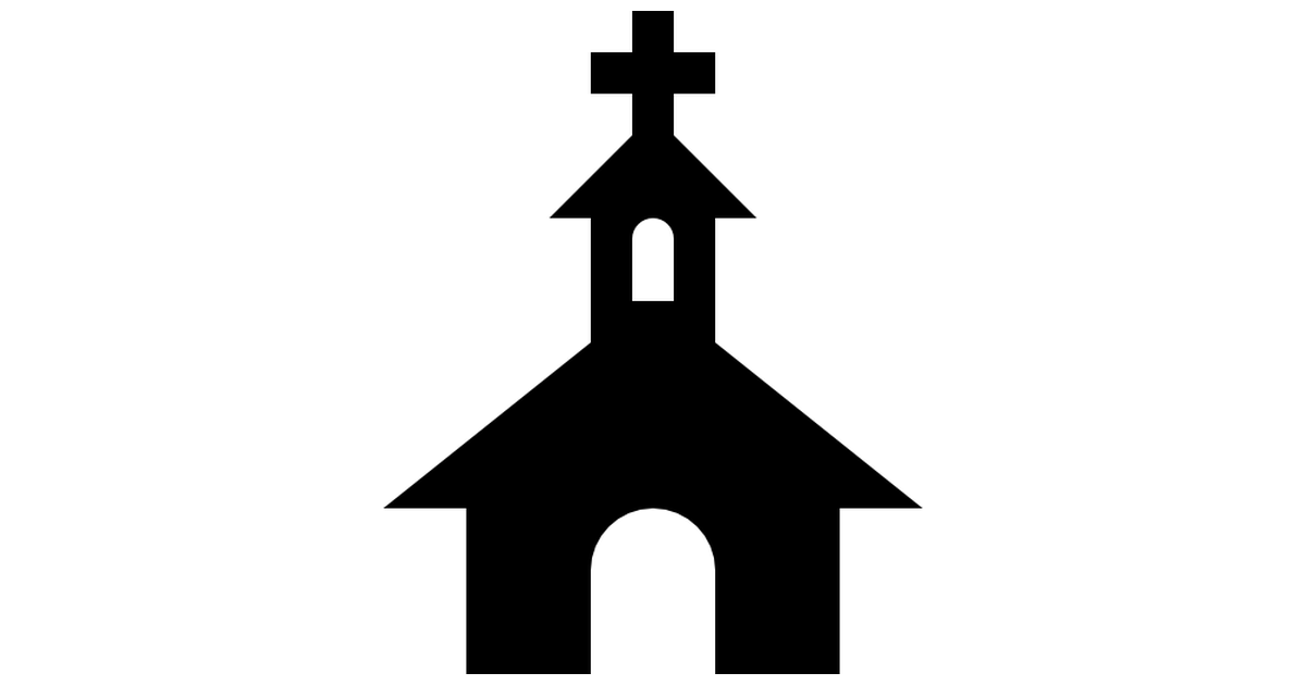 Chapel clipart silhouette On Free black buildings top
