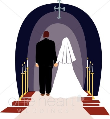 Chapel clipart wedding ceremony Church Wedding Art com Clipart