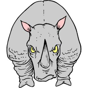 Charging Rhino clipart Charging Charging of Charging eps