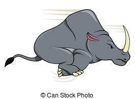 Charging Rhino clipart Clipart Rhinoceros Rhinoceros 632